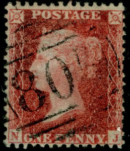 SG41, 1d dp rose-red PLATE 42, LC14, FINE USED. Cat £20. NJ