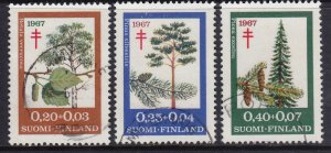 Finland 1967 Flora - Tuberculosis Fund Complete Used Set SC B179-B181