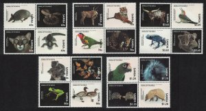 Samoa Birds Animals of the World 20 stamps Blocks of 4 SG#1386-1405 SALE BELOW