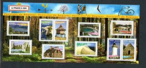 2005 FRANCE - SG:MS 4121 - FRENCH REGIONS (6)- UMM - SPLIT INTO 2 ON MIDDLE PERF
