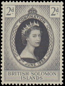 1953 Solomon Islands #88, Complete Set, Never Hinged