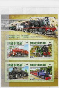Guinea-Bissau MNH S/S Steam Locomotives 2016