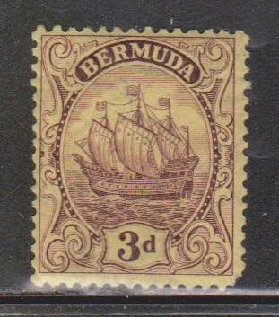 BERMUDA Scott # 89 MH - Caraval Type