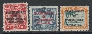 Niue, Scott 67-69 (SG 69-71), MLH