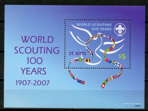 ST KITTS -  SCOUTING, 100TH ANNIVERSARY  2007 S465