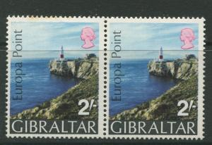Gibraltar - Scott 233 - General Issue -1970 - MNH - Pair of 2/- Stamps