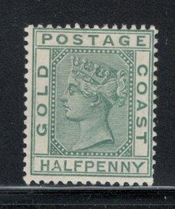 Gold Coast 1884 Queen Victoria 1/2p Scott # 11 MH