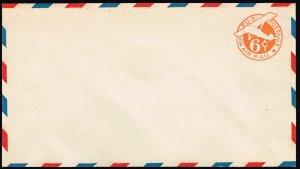 US STAMP BOB #UC6 6¢ Airmail 1934 stamped envelope UNUSED FRESH~!