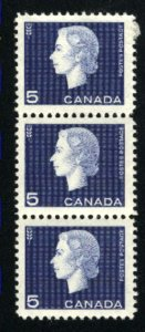 Canada #405   -1  strip of 3   Mint NH VF 1962   PD