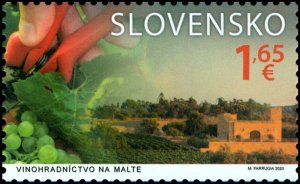 Stamps Of Slovakia 2020. A joint issue with Malta: Viticulture in Malta.