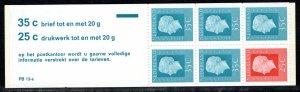 Netherlands Scott # 460Bc, mint nh, cpl. stamp booklet,  se-tenant