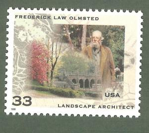 3338 Frederick Law Olmsted US Single Mint/nh (Free Shipping)