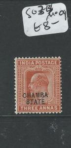 INDIA CHAMBA (PP0804B) KE 3A  SG 34  MOG