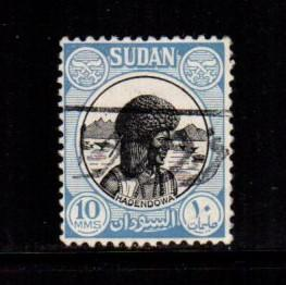 Sudan - #103 Hadenowa - Used     ,    variety world stamps