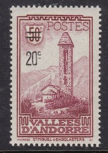 FRENCH ANDORRA ^^^^sc#64   mint     hinged  $$@ ta 1061ando