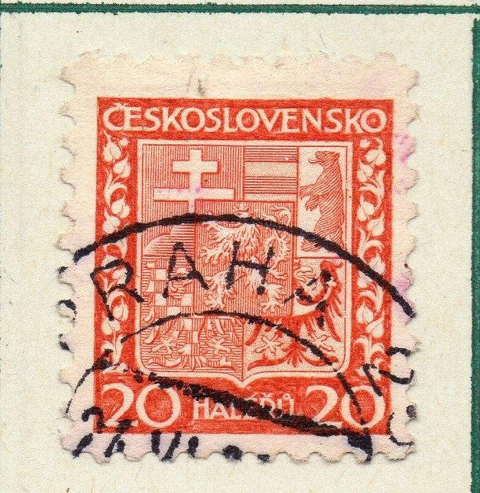 Czechoslovakia 1929 Early Issue Fine Used 20h. 230261