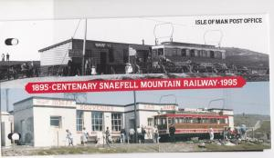 Isle of Man 1895-1995 Snaefell Mountain Railway M.N.H. Stamps Booklet Ref 28549