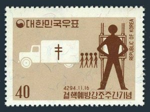 Korea South 332,332a,MNH.Michel 332,Bl.170. Tuberculosis Prevention Week 1961.