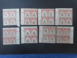U.S. #'s J89//J 97 VFNH Plate Blocks