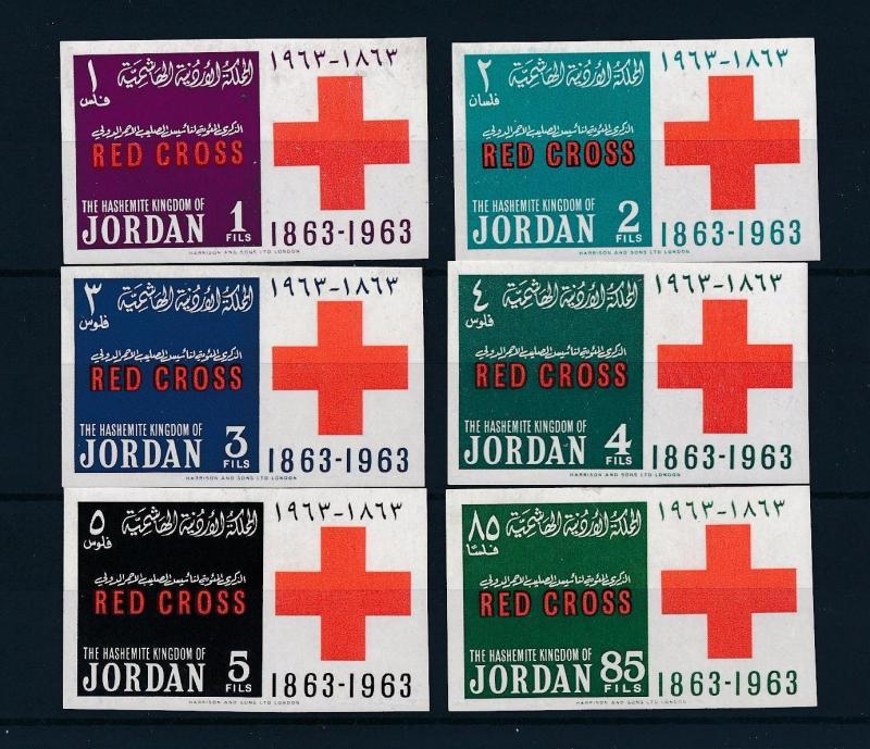 [48612] Jordan 1963 Red Cross centenary Imperforated MNH