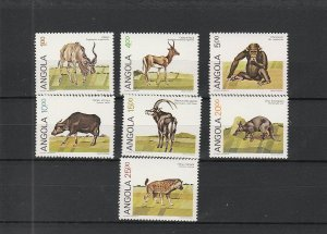 Angola  Scott#  689-695  MNH  (1984 Local Animals)