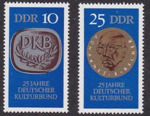 German Dem Rep # 1223-1224, Culture Assoc. , NH