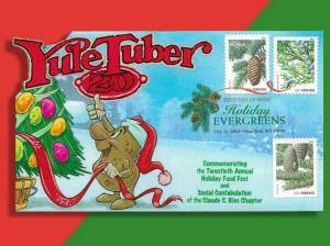Potatoes?? At Christmas?? Yule Tuber Pop-Up First Day Cover Celebrates Spuds!