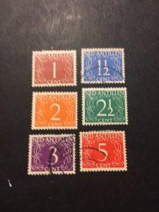 Netherlands Antilles sc 208-212,213 MH+u