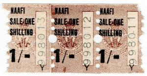 (I.B) Cinderella Collection : NAAFI Dividend Stamp 1/-