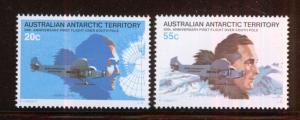 ANTARTIDA/ANTARCTICA AAT 1979 MNH SC.L35/L36 1st.Flight over South Pole, R.Byrd