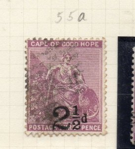 Cape of Good Hope 1891 Early Issue Fine Used 2.5d. Surcharged 284479
