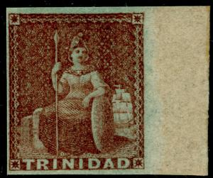 TRINIDAD AND TOBAGO SG7, 1d brownish-red, NH MINT. Cat £300.