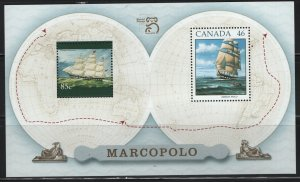 Canada, 1779A, PANE OF 2, MNH, 1997, Sailing ship Marco Polo