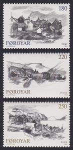 Faroe Is. Villages 3v SG#71-73 SC#83-85