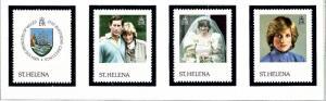 St Helena 372-75 MNH 1982 Princess Diana