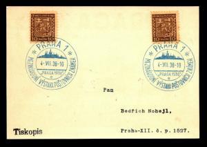 Czechoslovakia 1938 Praga 1938 Event Card / Cancel - Z14024