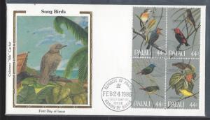 Palau, 102a, Songbirds ColoranoSilk FDC ,Used