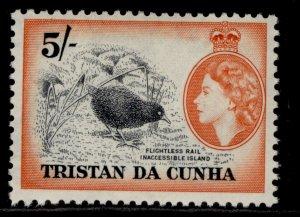 TRISTAN DA CUNHA QEII SG26, 5s brown & red-orange, M MINT. Cat £50.