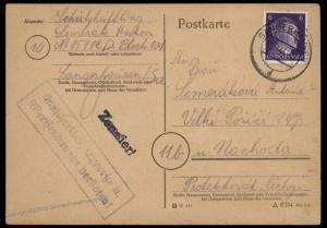 3rd Reich Germany KL Sangerhausen Mittlebau Dora V2 Rocket Cover Express R 91946