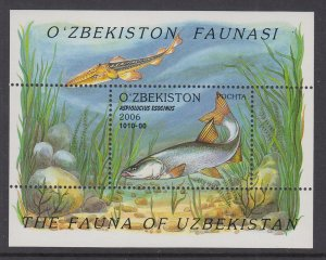 Uzbekistan 452 Fish Souvenir Sheet MNH VF