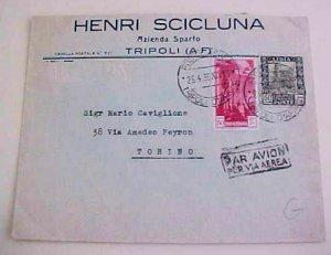 LIBYA MIXED TRIPOLTANIA 1936 TRIPOLI B/S ITALY