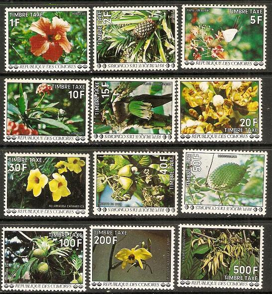 1977 Comoro Islands Scott J6-J17 Postage Due MNH