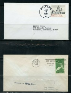 US POSTAL HISTORY OF STATE OF FLORIDA LOT OF 24 COVERS 1901-1992 AS SHOWN