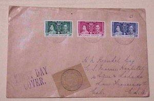 CAYMAN ISLANDS  FDC 1937