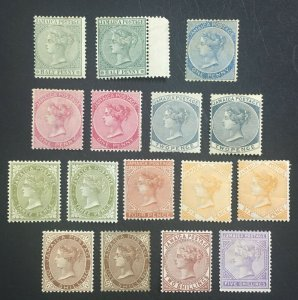 MOMEN: JAMAICA SG # 1883-97 CROWN CA MINT OG H £923 LOT #60512