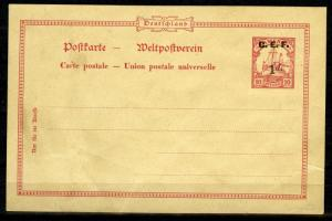 Cameroon, 1914 British Occupation, Postal Stationery 1 d mint, minor faults