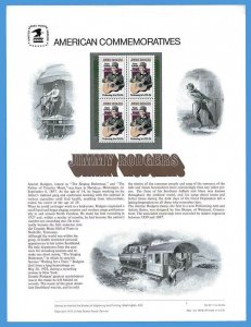 USPS COMMEMORATIVE PANEL #97 JIMMIE RODGERS #1755