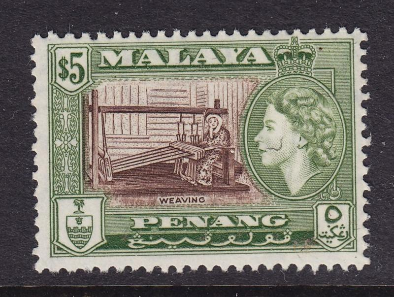 Penang Scott # 55 VF OG mint never hinged scv $ 28 ! see pic !