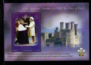 Jersey Sc 1382 2009 £3 Investiture stamp sheet mint NH
