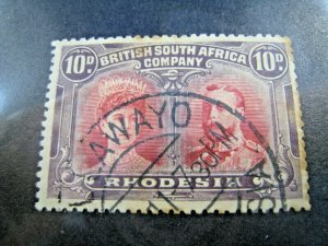 RHODESIA 1910  -  SCOTT # 110   NOTED      USED
